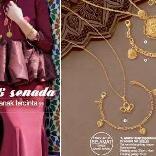 Avon's Fashions Amira Heart Necklace & Bracelet Set (for Kids)