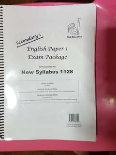 English Paper 1 Practice Package