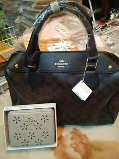 Coach doctors bag and wallet
