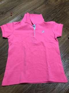 Orange Juice collared pink shirt
