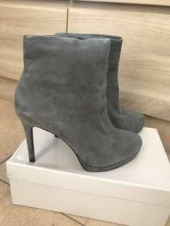 Zara suede short grey boots
