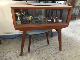 Teakwood display cabinet