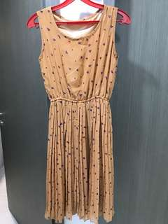 Orange Brown flower Dress