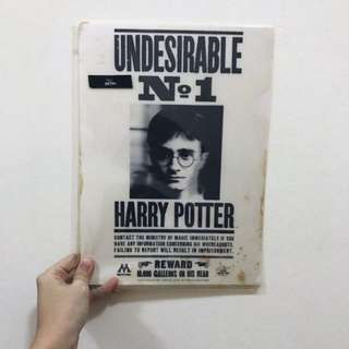 BNIP Harry Potter Holographic Undesirable No 1 Movie Poster A4 Plastic Folder