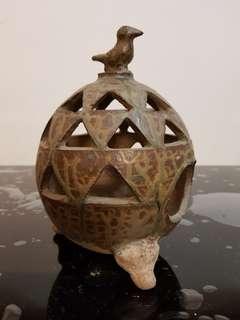 Vintage pottery incense burner