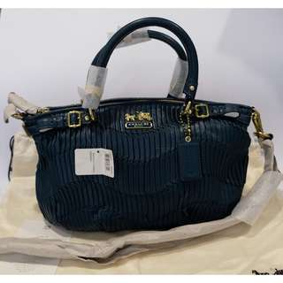 Authentic New Coach Mad Gath LTH Sophia Blue Bag
