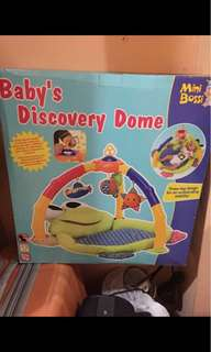 Baby play gym mat musical discovery dome