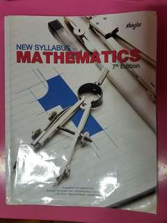 New Syllabus Mathematics 7th Edition Textbook