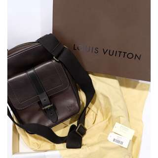 Authentic New Louis Vuitton M92534 Utah Brown Crossbody Bag