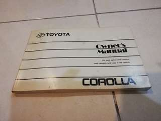 Toyota Corolla 1.6 owner manual