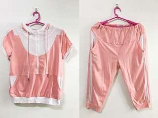 🚚 《二手》粉色孕婦褲裝