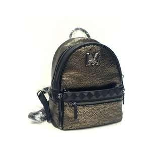 MCM Gunmetal Backpack