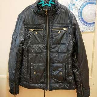 🚚 Mango經典黑超輕薄羽絨外套防風衣外套