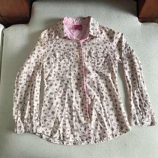 Floral Pink Long sleeved top