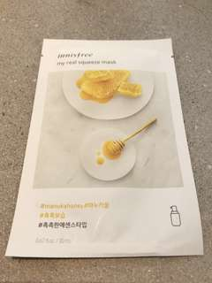 10 pcs My Real Squeeze Manuka Honey Essence Innisfree Face Mask