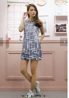 Lollyrouge Pandora Portrait Dress (Slate) BNWT