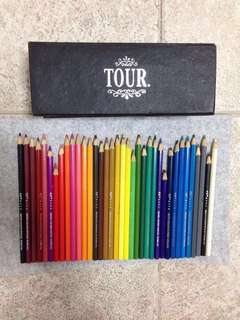 36 Watercolour Pencils - Used