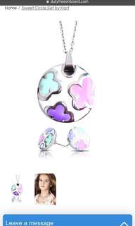 Brand new Hart necklace and stud earring set