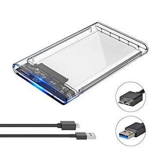 Eluteng transparent hard drive enclosure adaptor