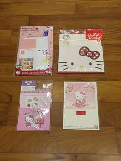 Hello Kitty Letter Sets (3 Letter Sets + 1 Postcard Set)