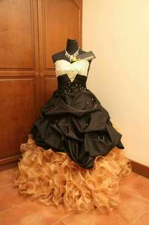 For Rent/Sale Ball Gown Gold and Black