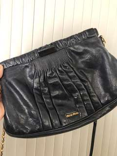 Navy blue Miu Miu Bag