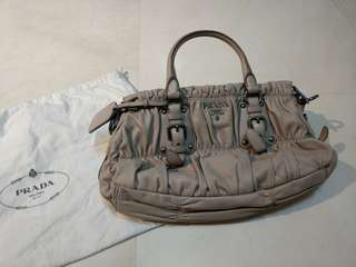 Prada Nappa Gauffre Ruched Bag