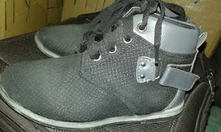 Gray boots style shoes