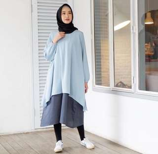 Dress EMA.Daily two tone