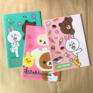 New LINE Rilakkuma Notebooks