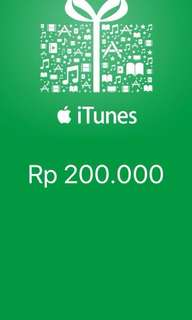 iTunes Gift Card Indonesia 200rb
