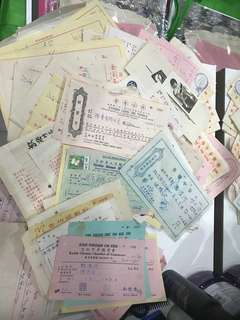 Lots of Vintage Receipts, with photo & stamp