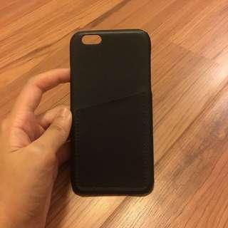 Black Leather Card Slot Phone Case
