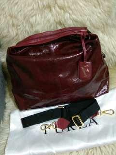 Auth Furla Leather Shoulder/Handbag