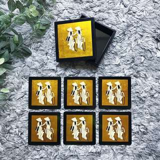 ⚡️Vietnam Gold Lacquer Coaster Set 1