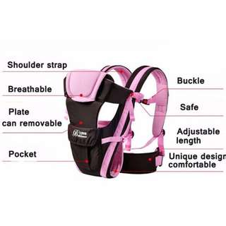 Beth Bear 0-30 Months Breathable Front Facing Baby Carrier 4 in 1 Infant Comfortable Sling Backpack Pouch Wrap