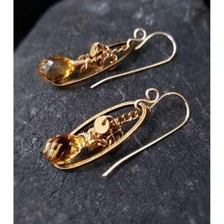 HANDMADE! Quartz Crystal Earrings 10130
