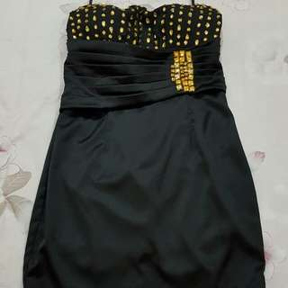 Baju pesta mini dress Kemben