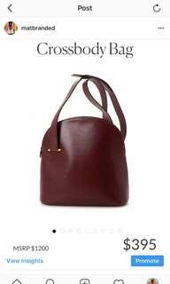 Authentic cartier oxblood crossbody bag