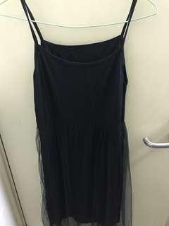 黑色吊帶連身裙