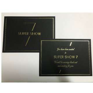 SJ  官方邀請卡 燙金 票卡 收藏 2018 演唱會 SUPER JUNIOR WORLD TOUR SUPER SHOW 7 in TAIPEI
