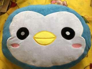 企鵝 大頭 抱枕 玩偶 靠枕