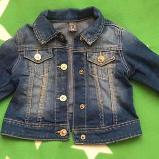 Zara Girls Size 2-3 Denim Jacket