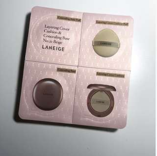 LANEIGE layering cover cushion & concealer base no.21 beige sample