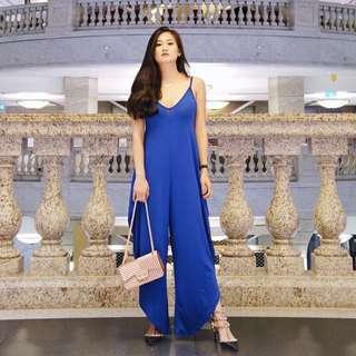 🚚 寶藍色連身褲 洋裝