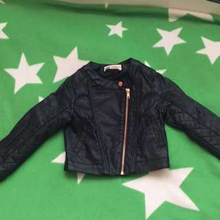 H&M Girls Size 2-3 Leather Jacket