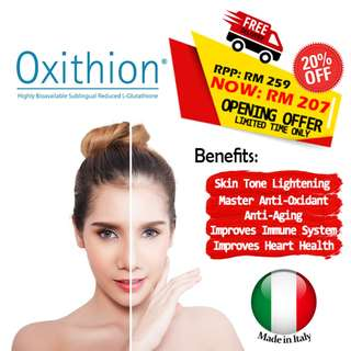 Brighten and lighten skin tone using Oxithion - L Glutathione whitening anti aging better than crystal tomato fair skin