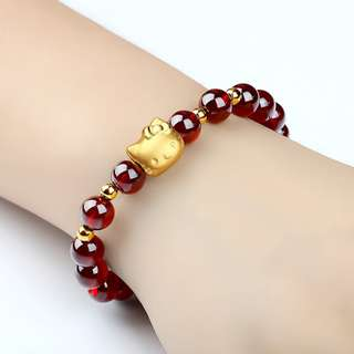 Hello Kitty Gold Plated Bracelet