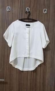 Baju satin putih executive