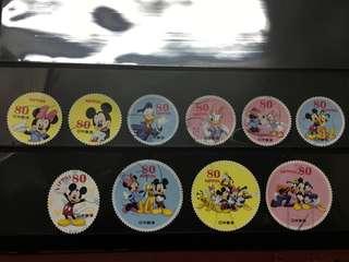 日本迪士尼信銷郵票E15(已使用)